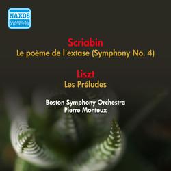 Scriabin, A.: Poeme De L'Extase (La) / Liszt, F.: Les Preludes (Boston Symphony, Monteux) (1952)