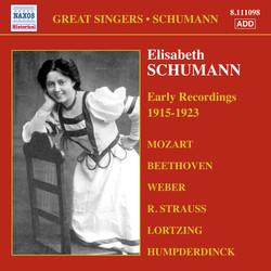 Schumann, Elisabeth: Early Recordings (1915-1923)