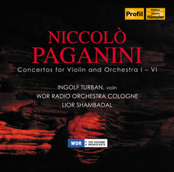 Niccolo Paganini: Concertos for Violin & Orchestra 1-6