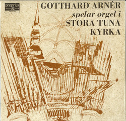 Gotthard Arnér spelar orgel i Stora Tuna kyrka