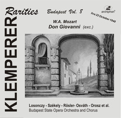 Mozart: Don Giovanni (Klemperer Rarities, Budapest Vol. 8) [Sung in Hungarian]