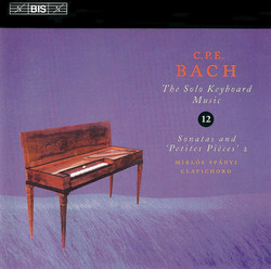 C.P.E. Bach: Solo Keyboard Music, Vol.12