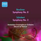 Bruckner, A.: Symphony No. 8 / Schubert, F.: Symphony No. 3 (Amsterdam Concertgebouw, Beinum) (1955)