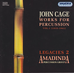 Cage: Works for Percussion, Vol. 1 (1935-1941)