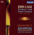 Cage: Works for Percussion, Vol. 5 (1936-1991)