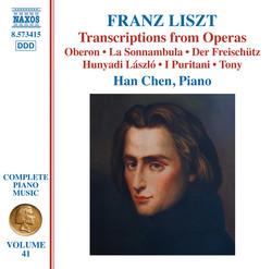 Liszt: Transcriptions from Operas