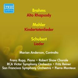Vocal Recital: Anderson, Marian - Brahms, J. / Mahler, G. / Schubert, F. (1951)