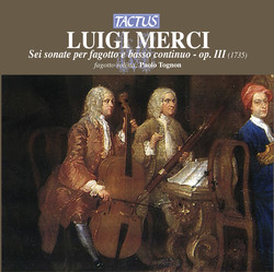 Merci: Sei sonate per fagotto e basso continuo, Op. 3