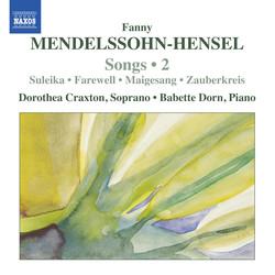 Mendelssohn-Hensel: Lieder, Vol. 2
