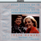 Bartok: 5 Songs / Hungarian Folksongs