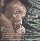Violin Recital: Kolisch, Rudolf - Schubert, F. / Bartok, B. / Schoenberg, A. / Berg, A. / Webern, A. (In Honor of Rudolf Kolisch) (1936-1967)