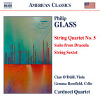 Glass: String Quartet No. 5, Suite from Dracula & String Sextet