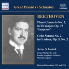 BEETHOVEN: Piano Concerto No. 5 / Cello Sonata No. 2 (Schnabel) (1932)