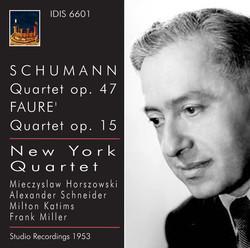Schumann: Quartet, Op. 47 - Fauré: Quartet, Op. 15 (1953)