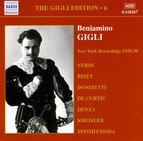 Gigli, Beniamino: Gigli Edition, Vol.  6: New York Recordings (1928-1930)