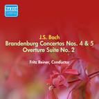 Bach, J.S.: Brandenburg Concertos Nos. 4, 5 / Overture (Suite) No. 2 (Reiner) (1949, 1953)