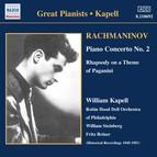 Rachmaninov: Piano Concerto No. 2 / Rhapsody On A Theme of Paganini (Kapell) (1950-1951)