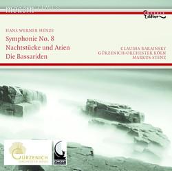 Henze, H.W.: Symphony No. 8 / Nachtstucke Und Arien / Die Bassariden: Adagio, Fuge Und Manadentanz
