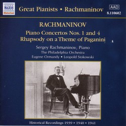 Rachmaninov: Piano Concertos Nos. 1 and 4 (Rachmaninov) (1939-1941)