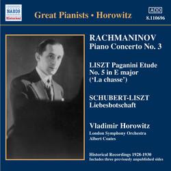 Rachmaninov: Piano Concerto No. 3 / Liszt: Paganini Etudes  (Horowitz) (1930)