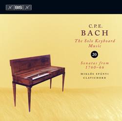 C.P.E. Bach: Solo Keyboard Music, Vol.20